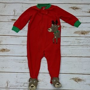 Carter's Christmas Reindeer Onesie Footie 12M